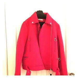 Mango red moto jacket